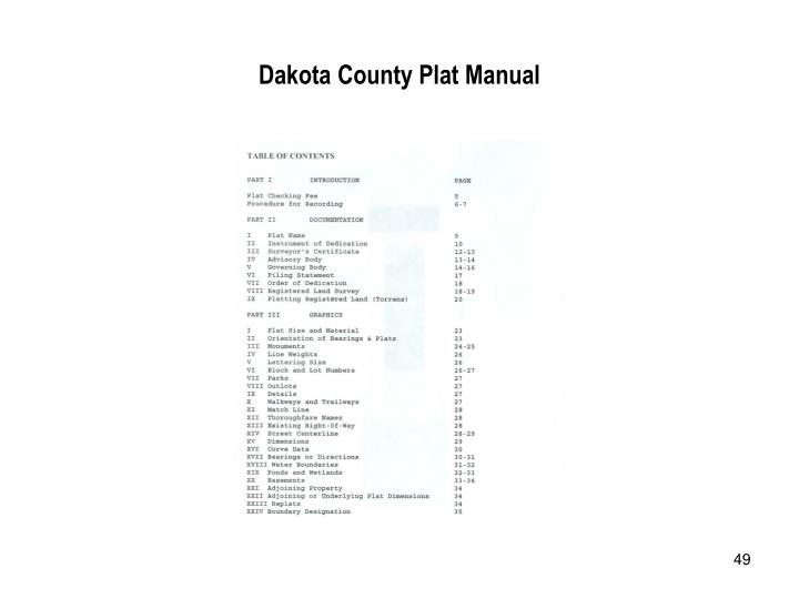Dakota County Plat Manual