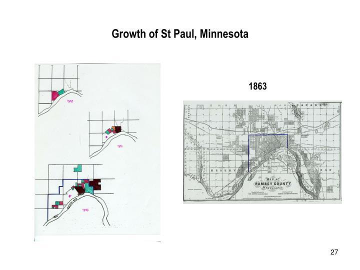 Growth of St Paul, Minnesota