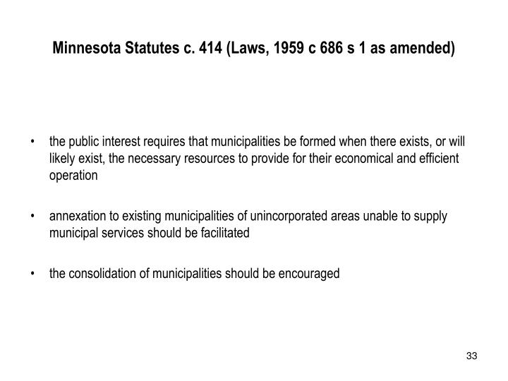 Minnesota Statutes c. 414 (Laws, 1959 c 686 s 1 as amended)