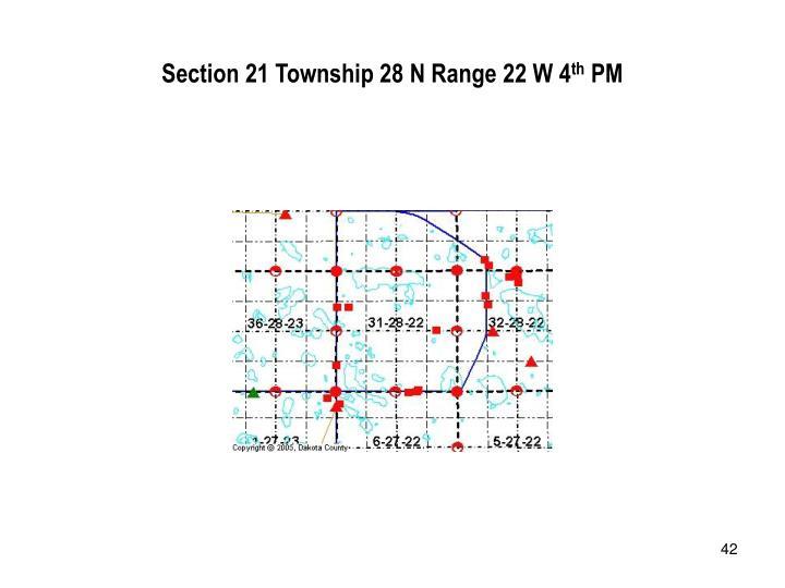 Section 21 Township 28 N Range 22 W 4