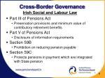 cross border governance