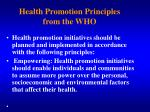 health promotion principles from the who