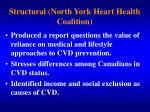 structural north york heart health coalition