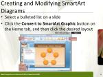 creating and modifying smartart diagrams