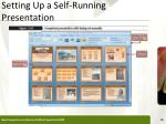 setting up a self running presentation1