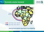 domestic market demand