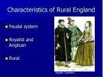 characteristics of rural england