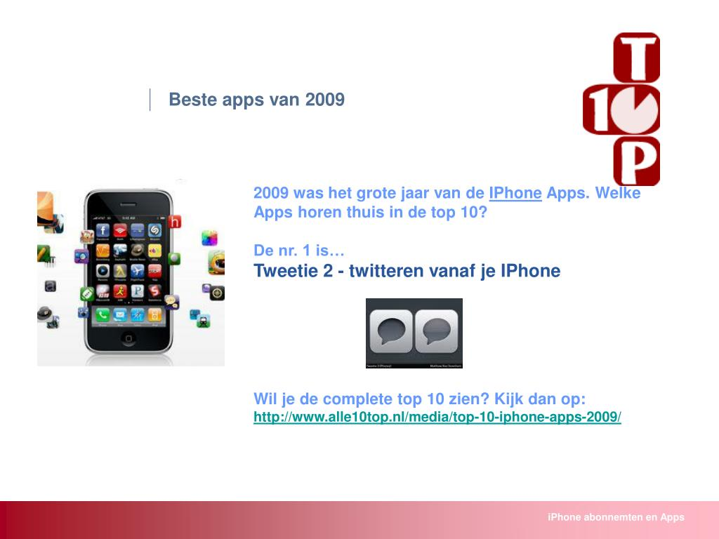 Beste apps van 2009