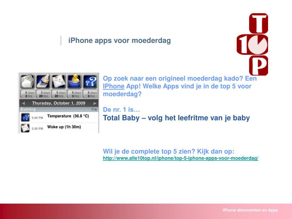 iPhone apps voor moederdag