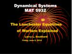 dynamical systems mat 5932