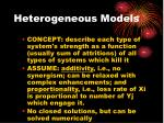 heterogeneous models