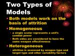 two types of models
