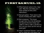 first samuel 15