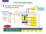 f 1 1 flat slab system