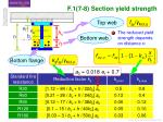 f 1 7 8 section yield strength