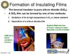 formation of insulating films