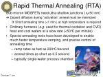 rapid thermal annealing rta