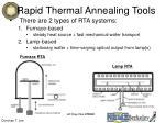 rapid thermal annealing tools