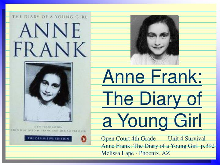 anne frank the diary of a young girl n.