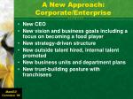 a new approach corporate enterprise
