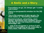 a smile and a story