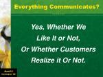 everything communicates