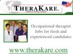 occupational therapist jobs for fresh and experienced candidates