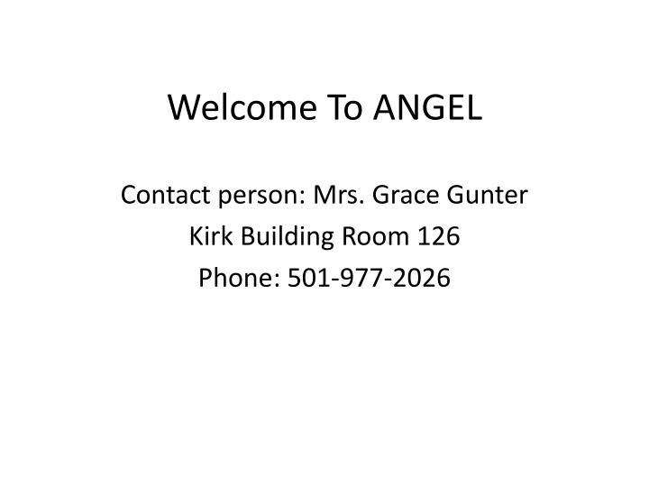 welcome to angel n.