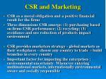 csr and marketing
