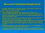 research limitations implications