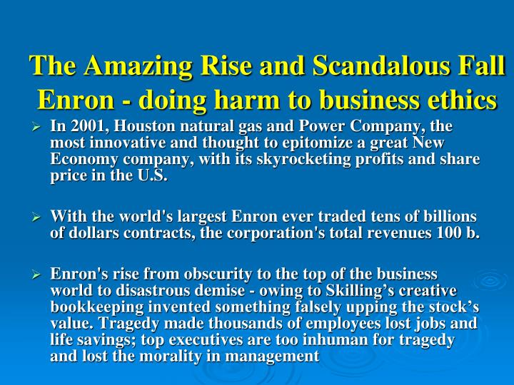 the enron scandal and the fall of one of americas largest companies The biggest stock scams of all time the shell companies, run by enron executives the company was one of america's largest.
