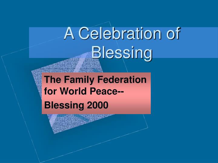 a celebration of blessing n.