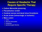 causes of headache that require specific therapy1