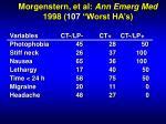 morgenstern et al ann emerg med 1998 107 worst ha s