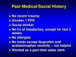 past medical social history