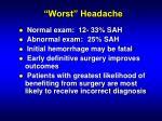 worst headache