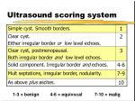 ultrasound scoring system