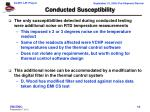 conducted susceptibility