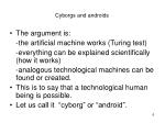 cyborgs and androids