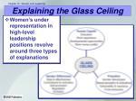 explaining the glass ceiling