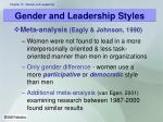 gender and leadership styles1