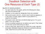 deadlock detection with one resource of each type 2
