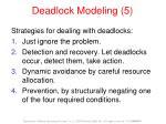 deadlock modeling 5
