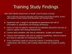 training study findings