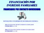 financiaci n por ingresos familiares