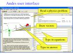 andes user interface