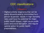 cdc classifications