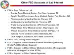 other fcc accounts of lab interest