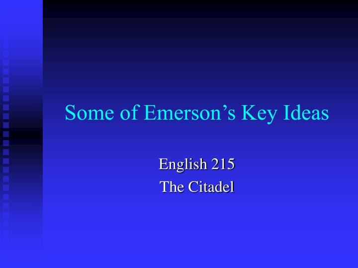 some of emerson s key ideas n.