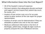 what information goes into the cost report